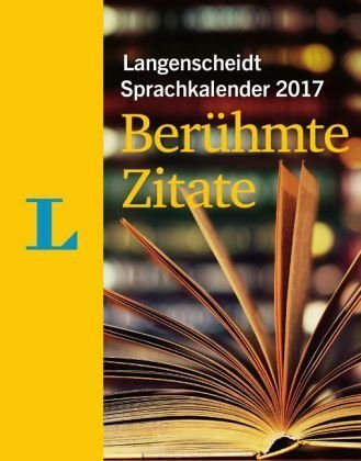 Kalender »Langenscheidt Sprachkalender 2017 Berühmte...«