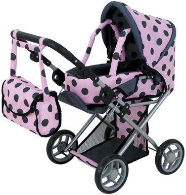 Sun Puppenwagen, »dots« in rosa gepunktet
