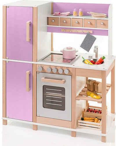 Weiße Kinderküche aus Kleiderschrank selber machen