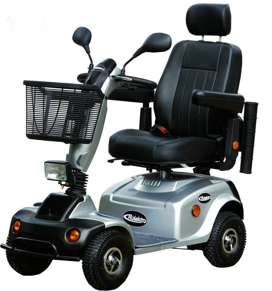 Elektromobil, 15 km/h, 800 Watt, »eco-Mobil 15«, Rolektro in silber-schwarz