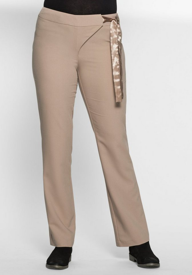 sheego Trend Weite Stretch-Hose in ton