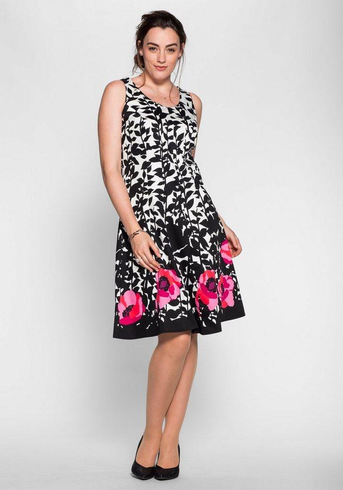 sheego Style Kleid mit Alloverdruck online kaufen | OTTO
