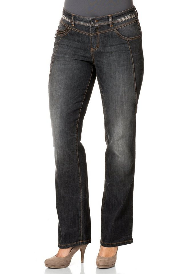 sheego Denim Bootcut Jeans in black used