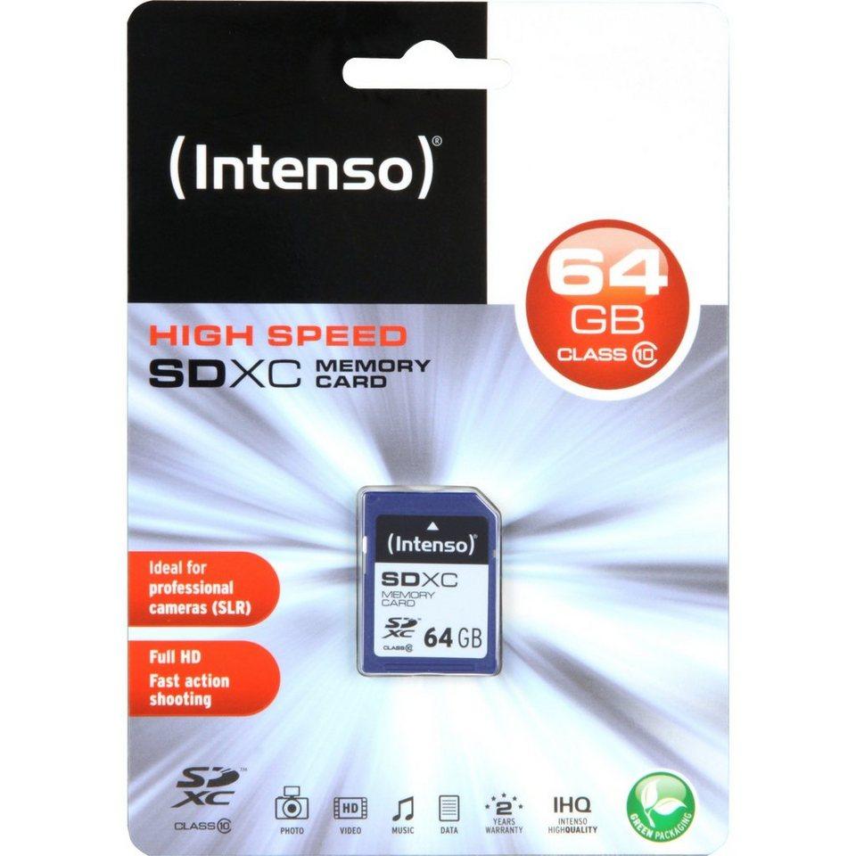 Intenso Speicherkarte »Secure Digital SDXC Card 64 GB«