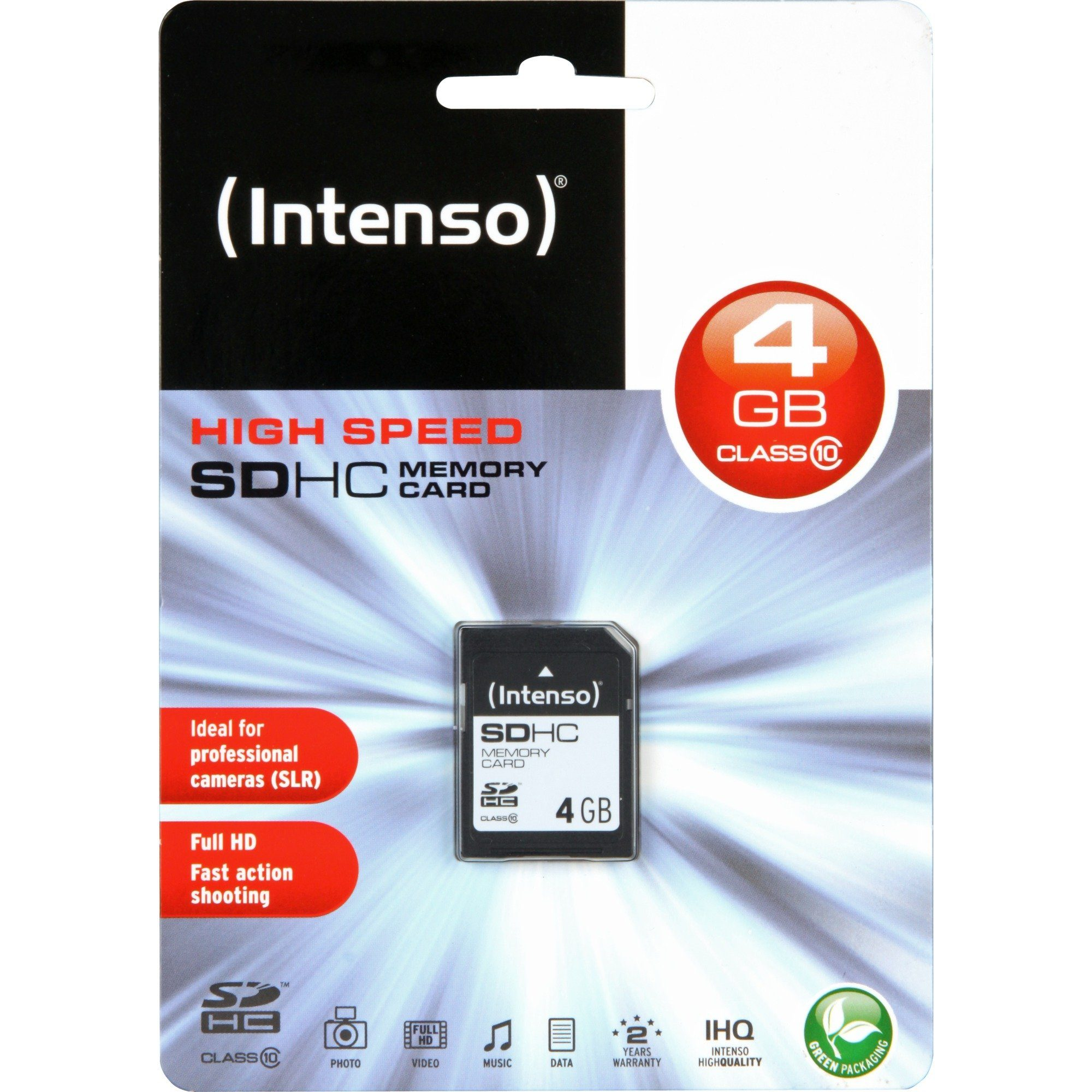 Intenso Speicherkarte »Secure Digital SDHC Card 4 GB«