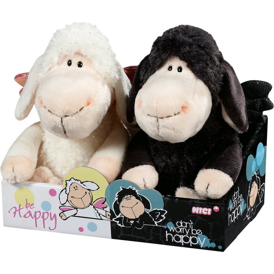 NICI Schafe Jolly be Happy + Don't worry.. 20cm in Geschenkbox (3