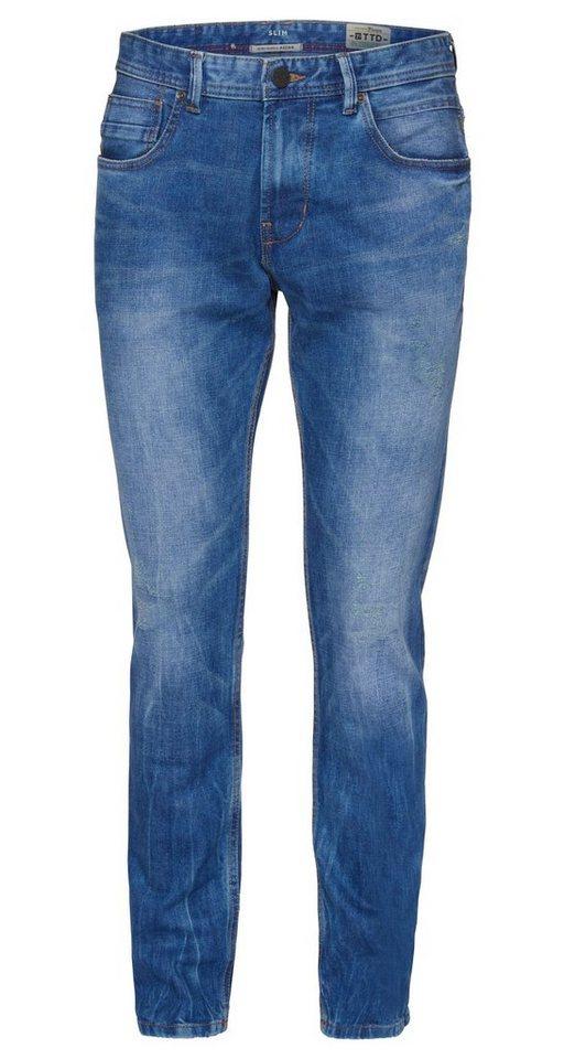 TOM TAILOR DENIM Jeans »coole Used-Jeans« in super stone blue den