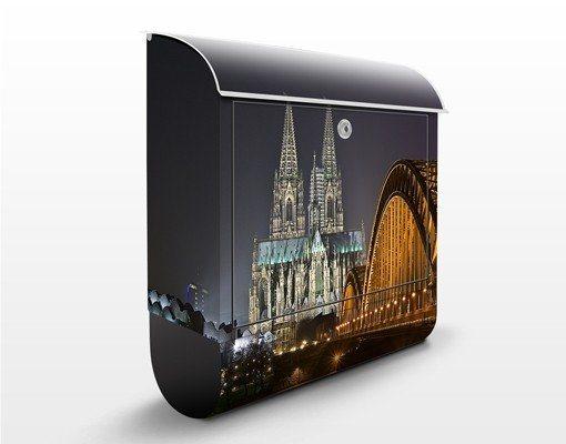Bilderwelten Briefkasten mit Zeitungsfach 39x46x13cm »Kölner Dom« in Schwarz