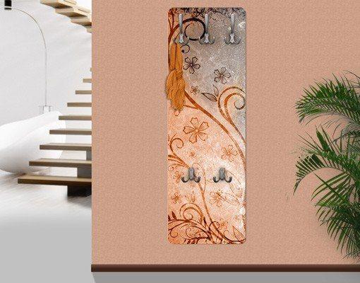 Bilderwelten Wandgarderobe 139x46x2cm »Dignity« in Orange