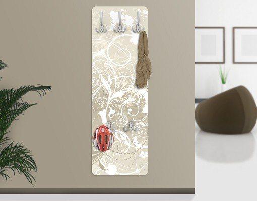 Bilderwelten Wandgarderobe 139x46x2cm »Perlmutt Ornament Design« in Naturfarben