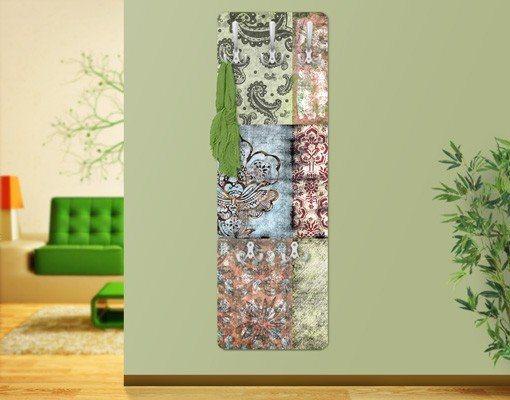 Bilderwelten Garderobe Vintage 139x46x2cm »Old Patterns« in Farbig