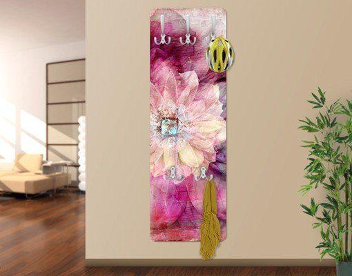 Bilderwelten Wandgarderobe Blumen 139x46x2cm »Grunge Flower«