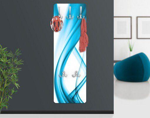 Bilderwelten Wandgarderobe Abstrakt 139x46x2cm »Blue Element«