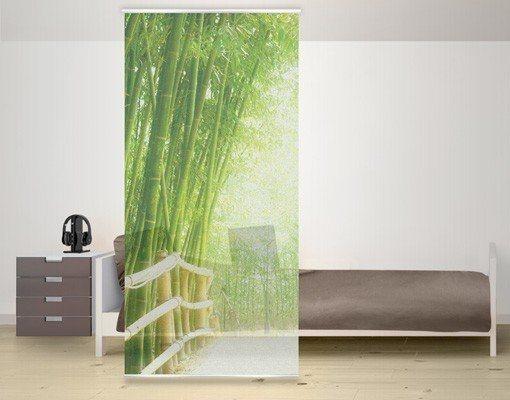 Bilderwelten Raumteiler 250x120cm »Bamboo Way« in Grün