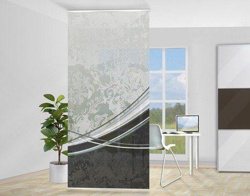 Bilderwelten Raumteiler 250x120cm »Swinging Baroque« in Grau