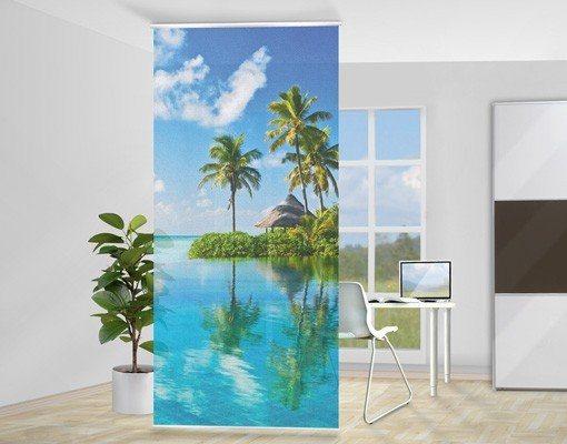 Bilderwelten Raumteiler 250x120cm »Tropisches Paradies« in Blau