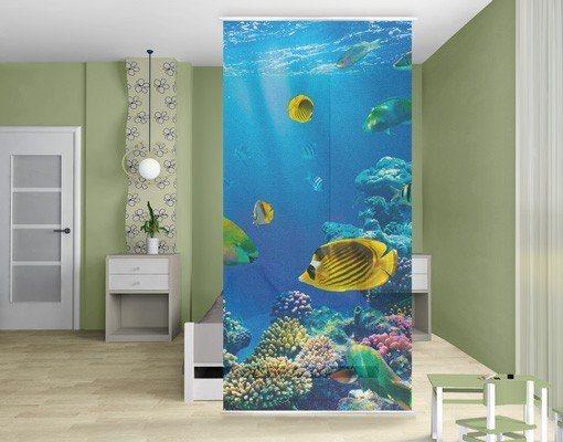Bilderwelten Raumteiler 250x120cm »Underwater Lights« in Blau
