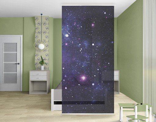 Bilderwelten Raumteiler 250x120cm »Galaxie« in Pink