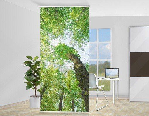 Bilderwelten Raumteiler 250x120cm »Bäume des Lebens« in Grün
