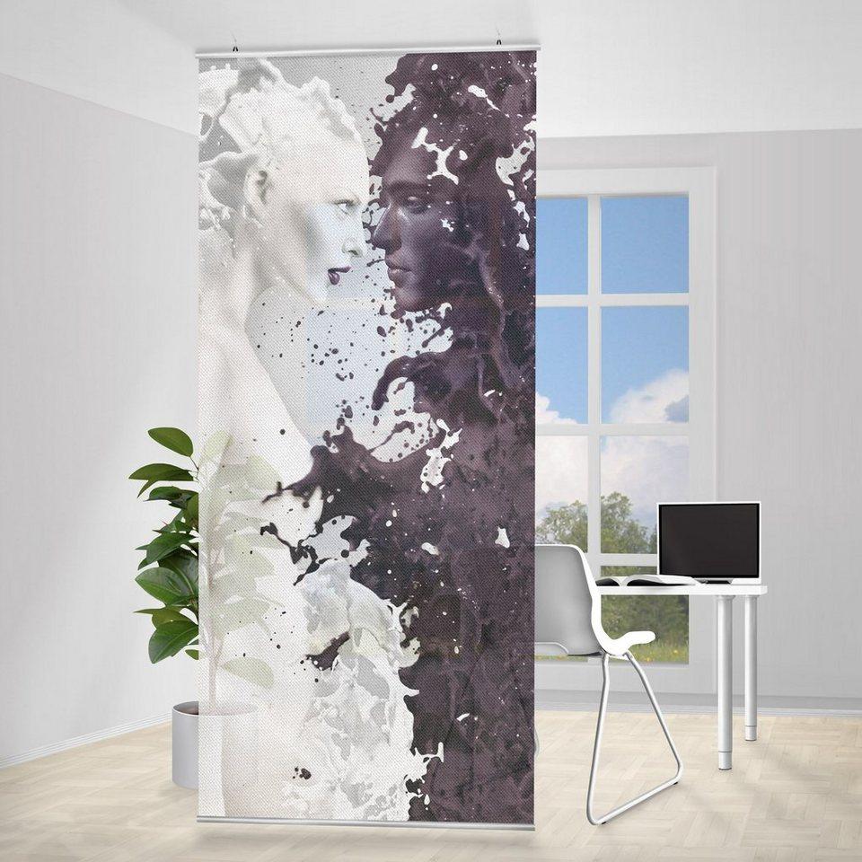 Bilderwelten Raumteiler 250x120cm »Milk & Coffee« in Schwarz