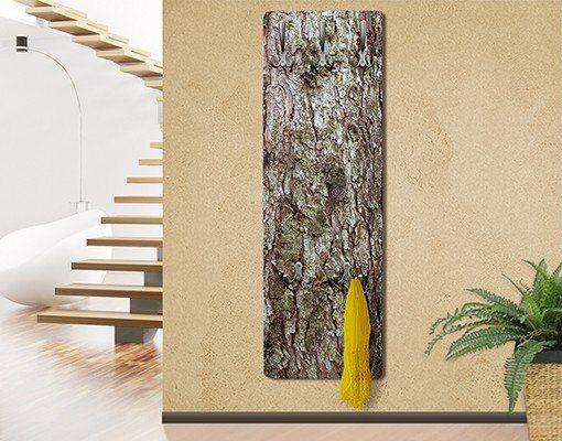 Bilderwelten Wandgarderobe 139x46x2cm »Holzoptik No.Yk 17 Baumrinde« in Braun