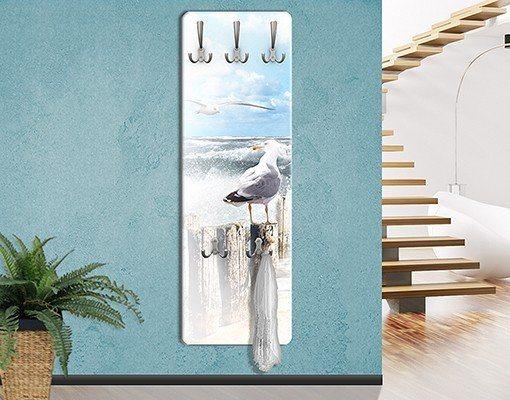 Bilderwelten Wandgarderobe 139x46x2cm »No.YK3 Absolut Sylt« in Weiß