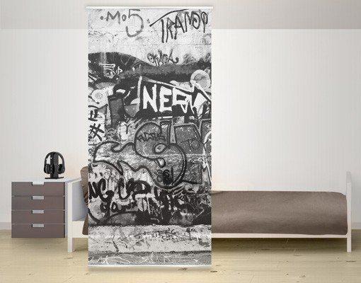 Bilderwelten Raumteiler Kinderzimmer 250x120cm »Graffiti Art« in Grau