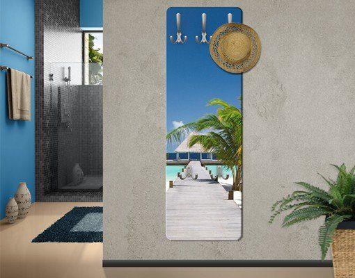Bilderwelten Wandgarderobe 139x46x2cm »Catwalk To Paradise«