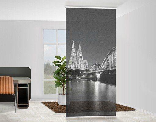 Bilderwelten Raumteiler 250x120cm »Köln bei Nacht II« in Grau