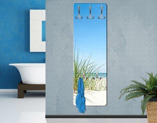 Bilderwelten Wandgarderobe 139x46x2cm »Ostseeküste« in Blau