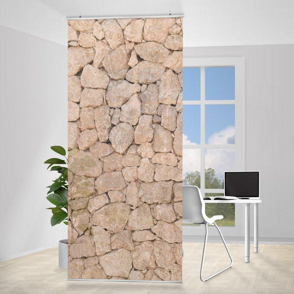 Bilderwelten Raumteiler 250x120cm »Apulia Stone Wall« in Naturfarben