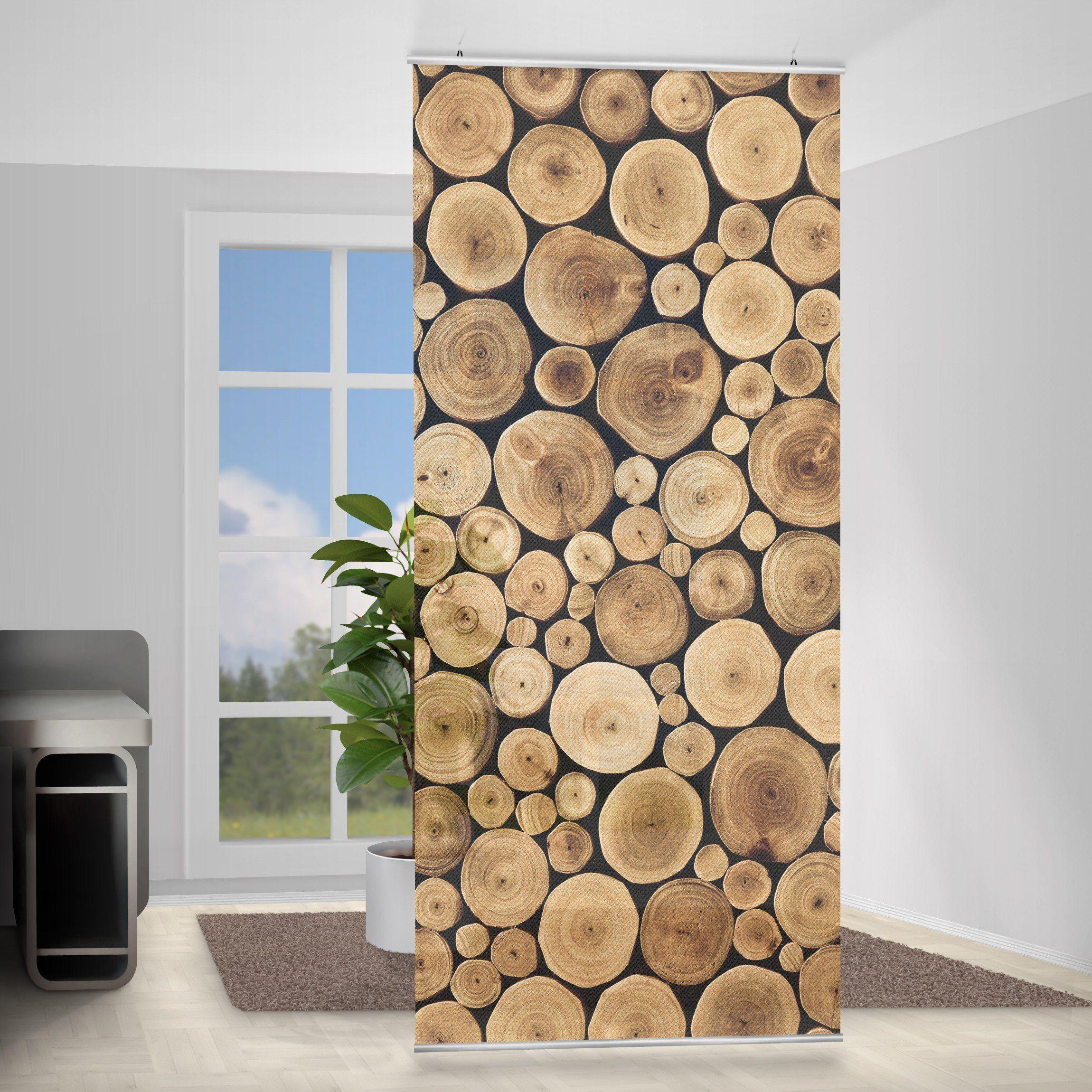 Bilderwelten Raumteiler 250x120cm »Homey Firewood«