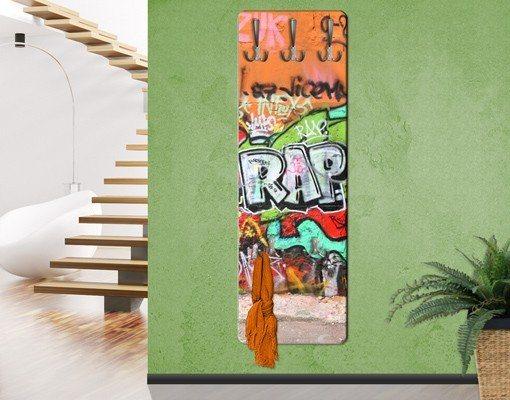 Bilderwelten Kindergarderobe 139x46x2cm »Graffiti« in Orange