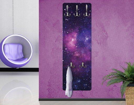 Bilderwelten Wandgarderobe 139x46x2cm »Galaxie« in Pink