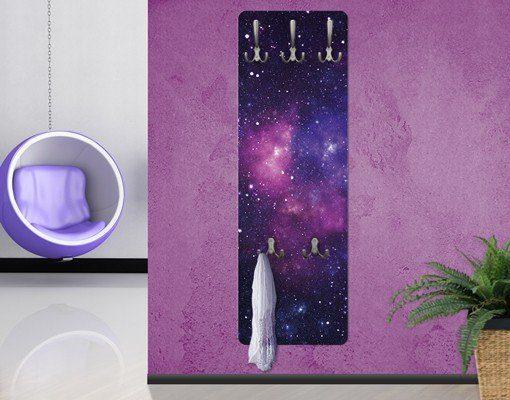 Bilderwelten Wandgarderobe 139x46x2cm »Galaxie«