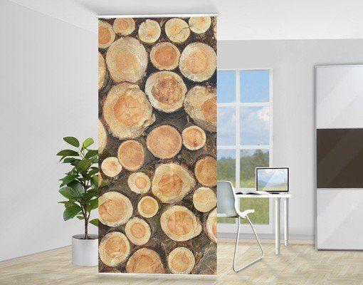 Bilderwelten Raumteiler 250x120cm »No.YK18 Baumstämme«