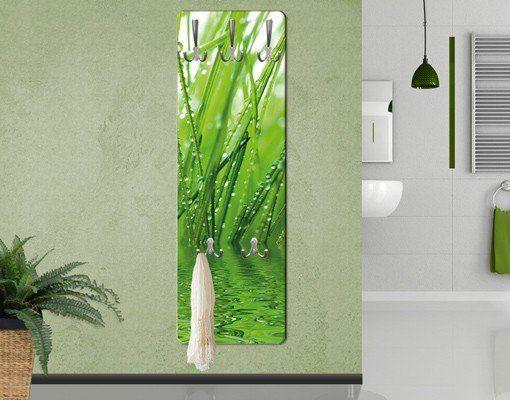 Bilderwelten Wandgarderobe Blumen 139x46x2cm »Morgentau«
