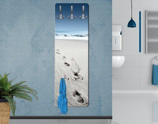 Bilderwelten Wandgarderobe 139x46x2cm »Spuren im Sand« in Farbig