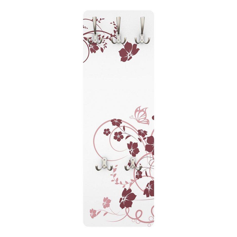 Bilderwelten Wandgarderobe Blumen 139x46x2cm »Apricot Blossom« in Farbig