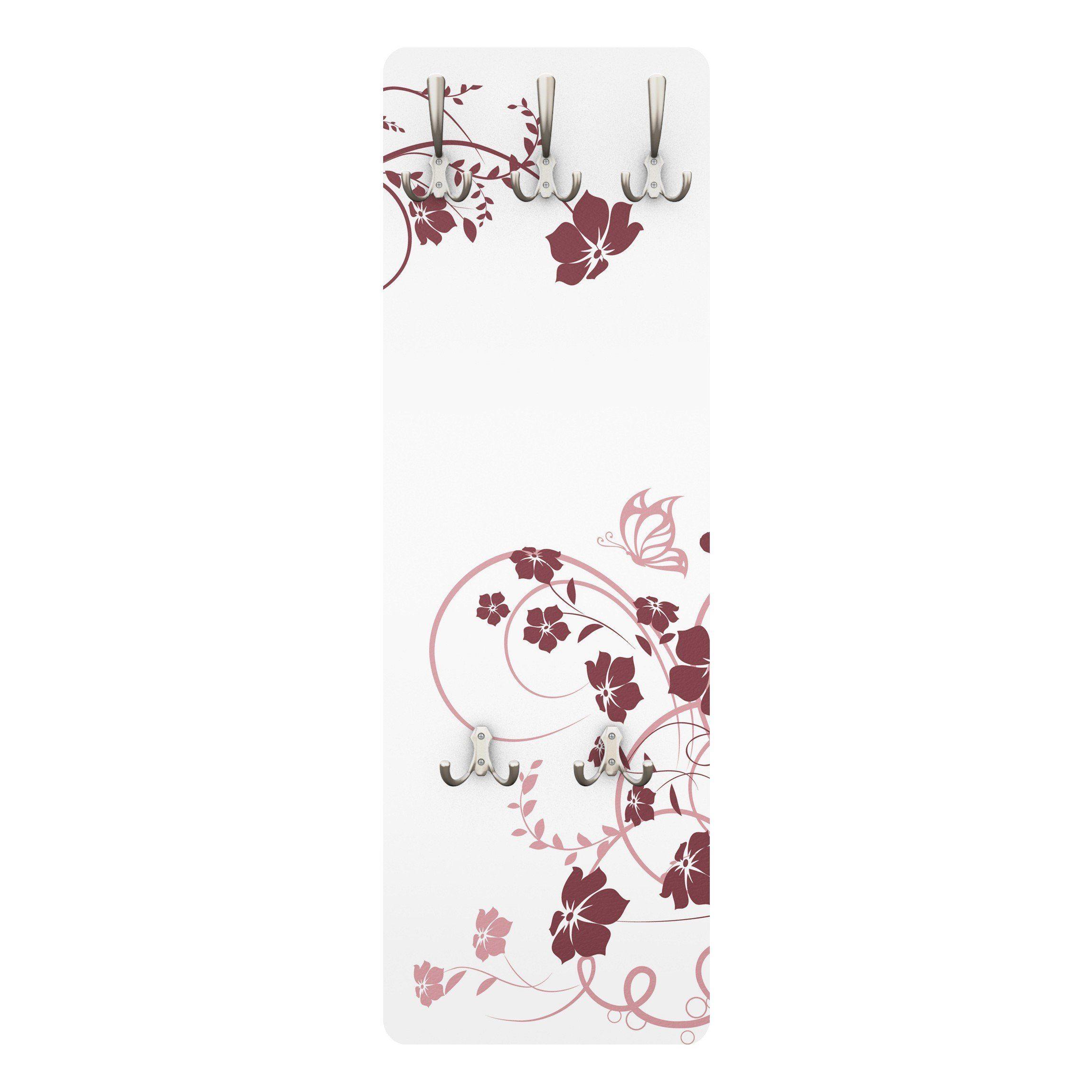 Bilderwelten Wandgarderobe Blumen 139x46x2cm »Apricot Blossom«