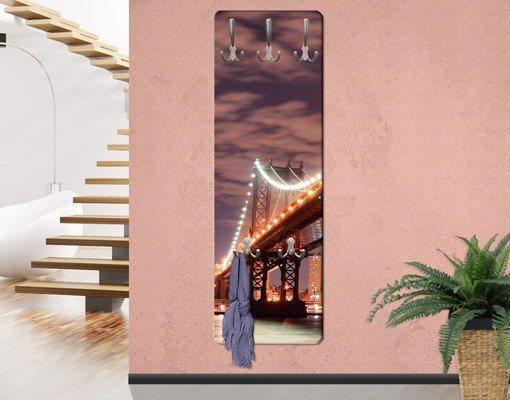 Bilderwelten Wandgarderobe 139x46x2cm »Manhattan Bridge« in Farbig