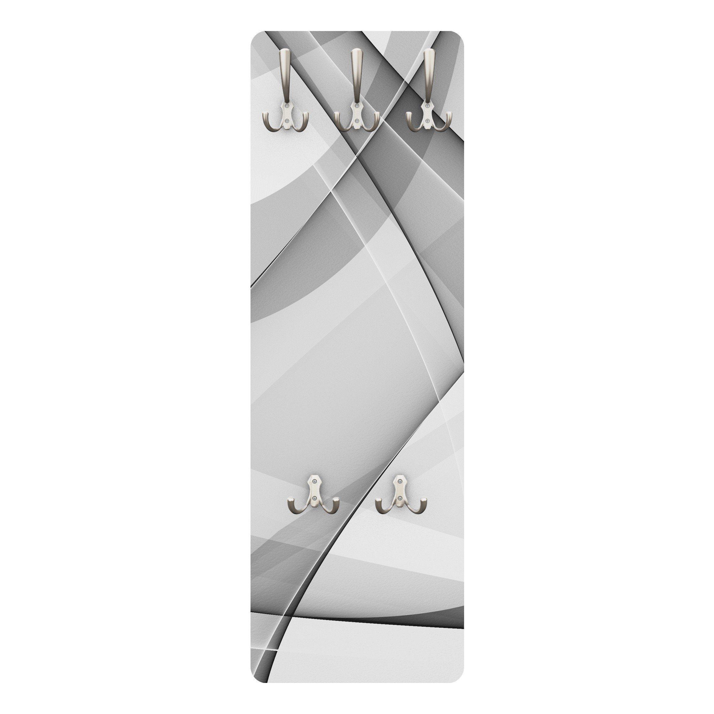 Bilderwelten Wandgarderobe Abstrakt 139x46x2cm »Changes« | Flur & Diele > Garderoben > Garderobenhaken | Weiß - Matt | Holz - Faserplatte - Metall | Bilderwelten