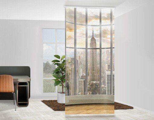 Bilderwelten Raumteiler 250x120cm »Büroausblick« in Braun