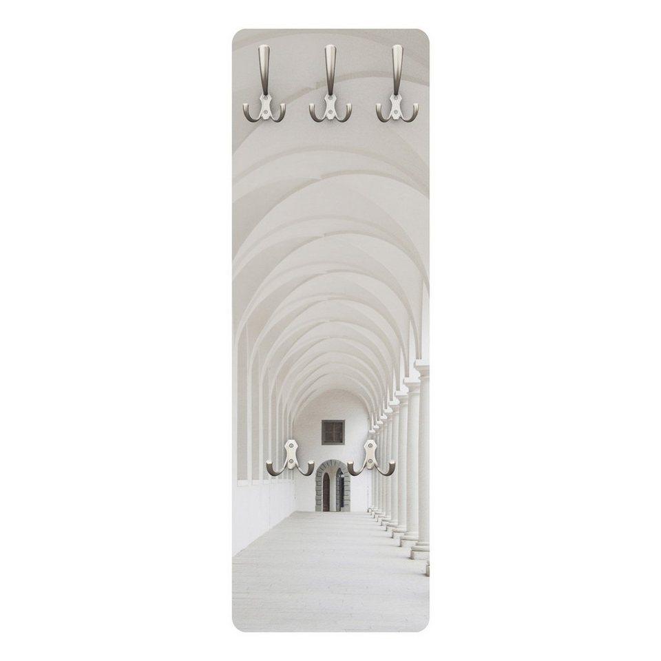 Bilderwelten Wandgarderobe 139x46x2cm »Arkaden« in Weiß