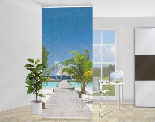 Bilderwelten Raumteiler 250x120cm »Catwalk To Paradise« in Blau
