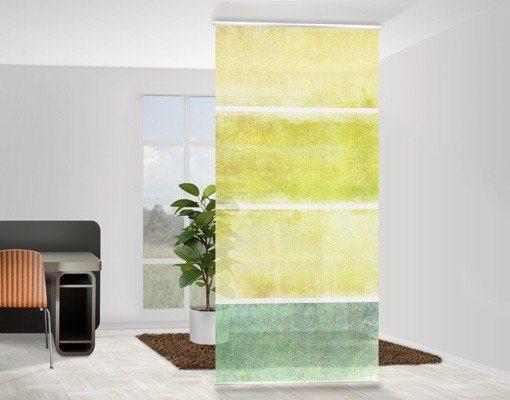 Bilderwelten Raumteiler 250x120cm »Colour Harmony Yellow« in Gelb