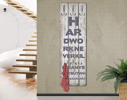 Bilderwelten Garderobe Vintage 139x46x2cm »No.RS180 Hard Work« in Grau