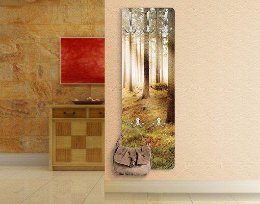 Bilderwelten Wandgarderobe 139x46x2cm »No.CA48 Morning Forest« in Farbig