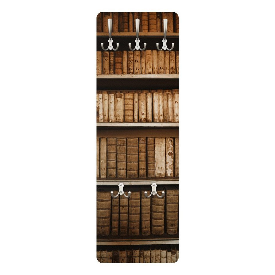 Bilderwelten Wandgarderobe 139x46x2cm »Altes Archiv« in Braun