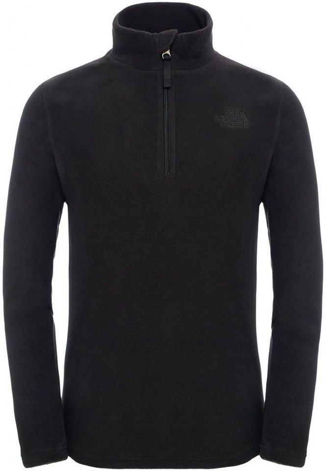 The North Face Pullover »Glacier 1/4 Zip Youth« in schwarz